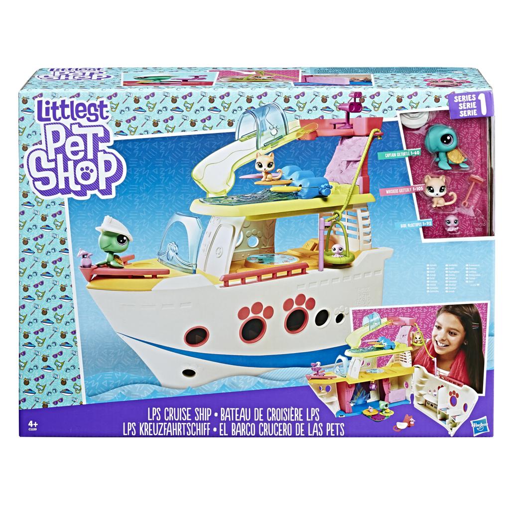 Littlest Pet Shop Hrací set - výletní loď se 3 zvířátky Hasbro