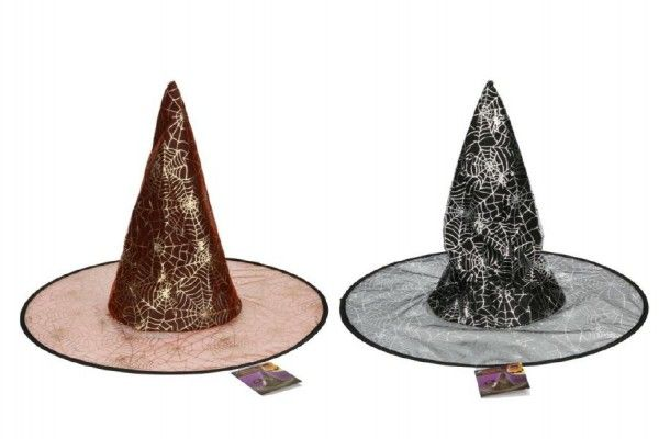 Klobouk čarodějnický 46cm asst 2 barvy karneval Teddies