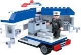 Stavebnice Dromader Policie Auto Dodávka 23405 194ks v krabici 22x15x4,5cm