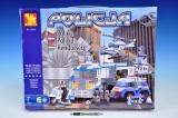 Stavebnice Dromader Policie Auto+Vrtulník+Stanice 23001 779ks v krabici 55x43x7cm