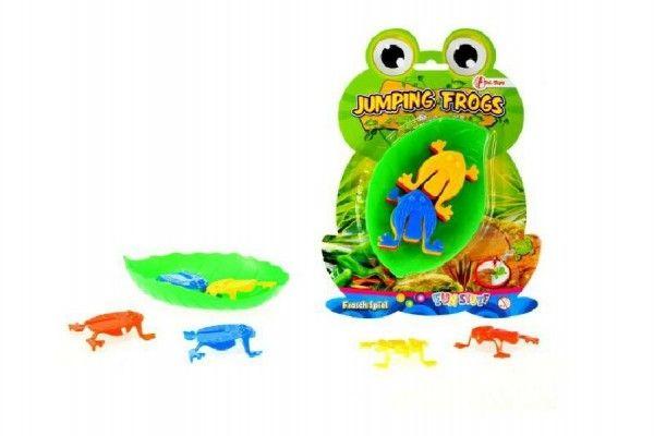 Skákající žáby společenská hra plast na kartě Teddies