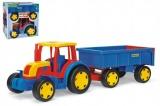 Traktor Gigant s vlekem plast 102cm v krabici Wader