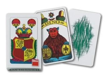 Karty hrací jednohlavé mariášové Dino