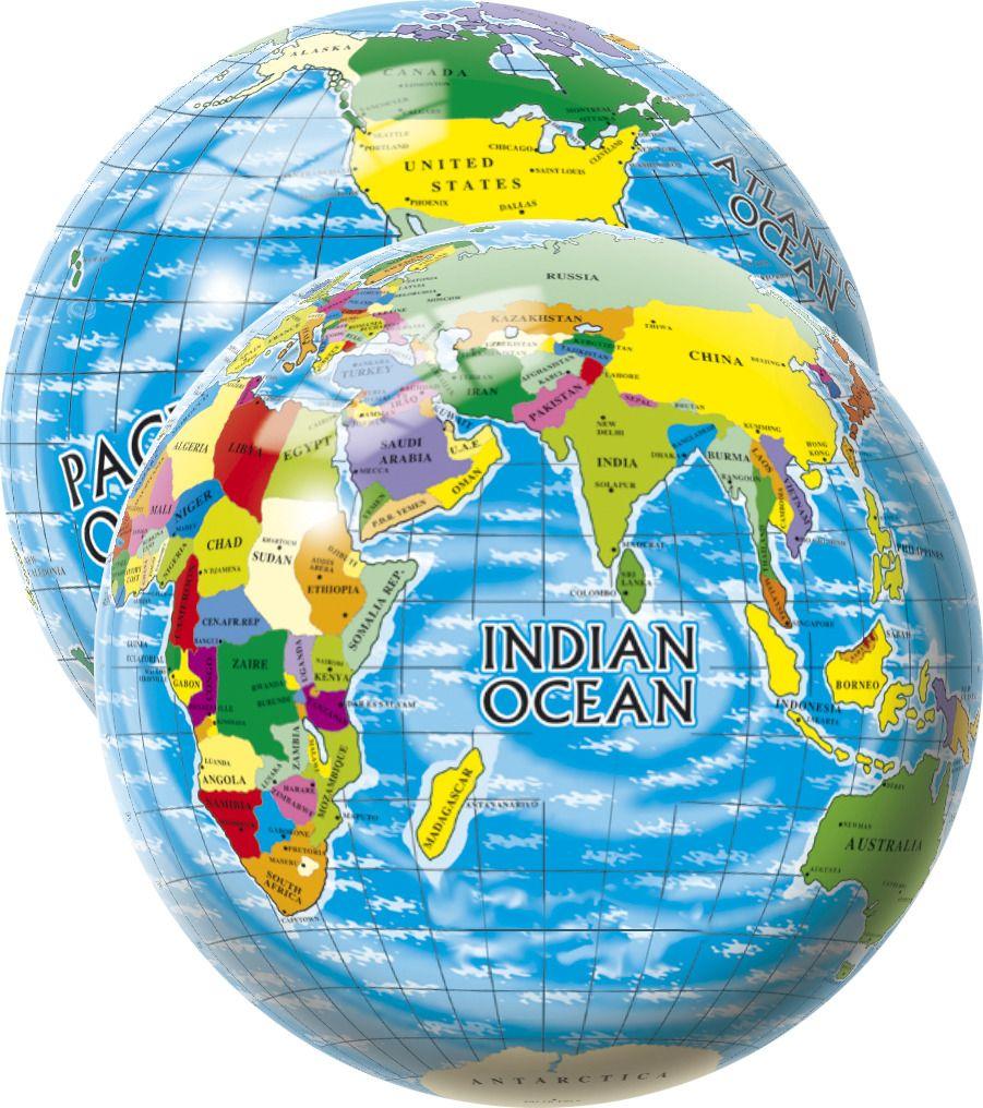 Míč Mapa světa 23 cm UNISON