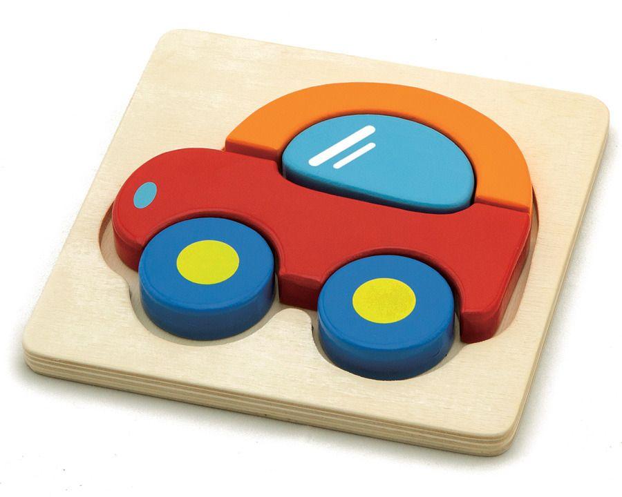 Puzzle auto dřevěné