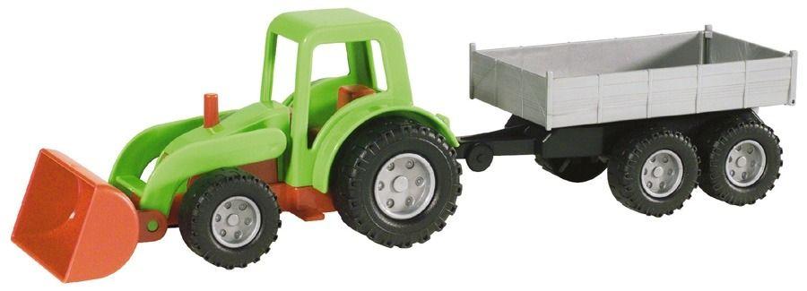 Traktor s přívěsem Lena