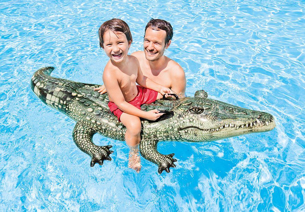 Vozítko do vody realistický krokodýl 170x86cm