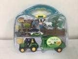 Farmářský set v kufříku 3 druhy traktor s doplňky Alltoys
