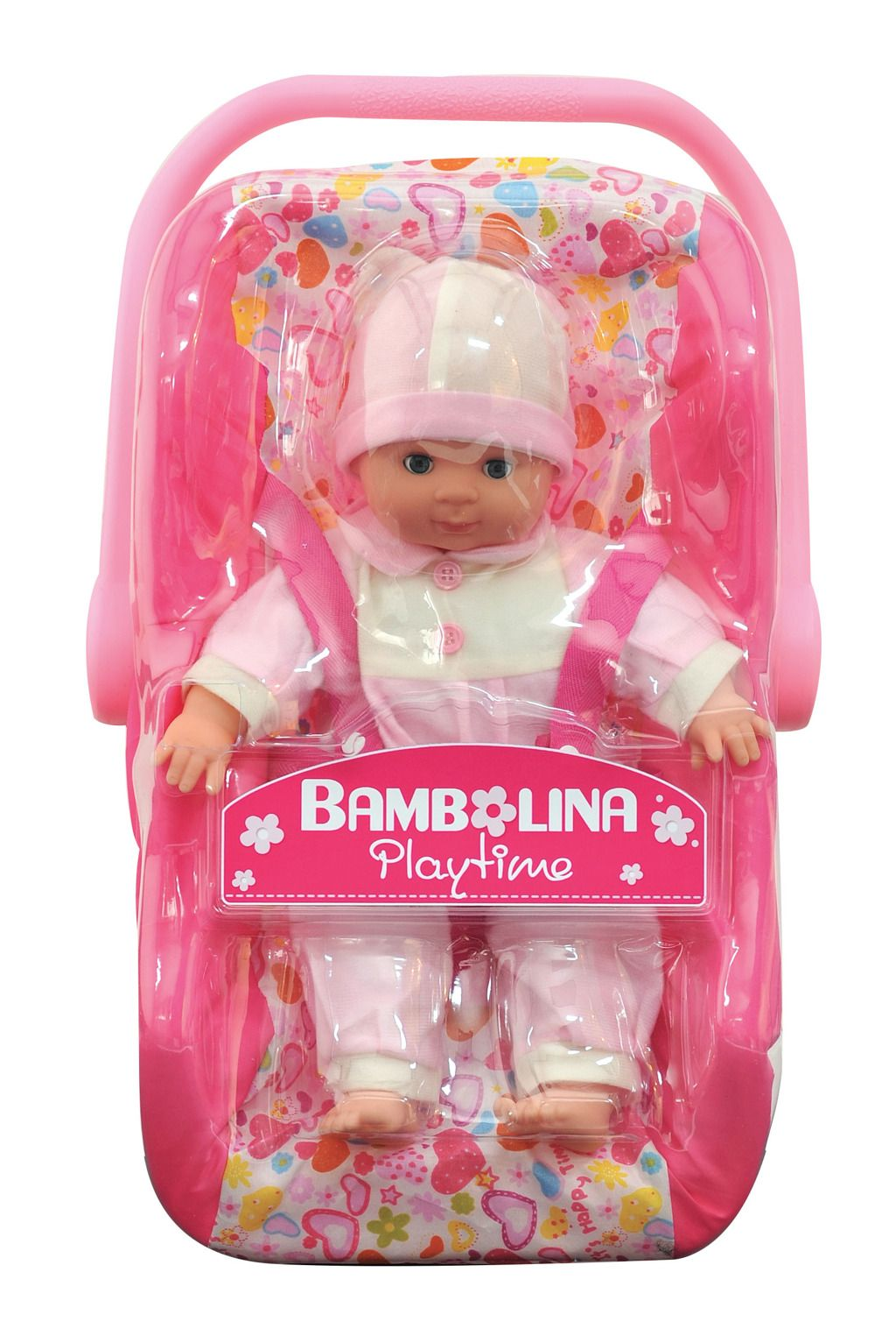 Panenka Bambolina s autosedačkou 30 cm Alltoys
