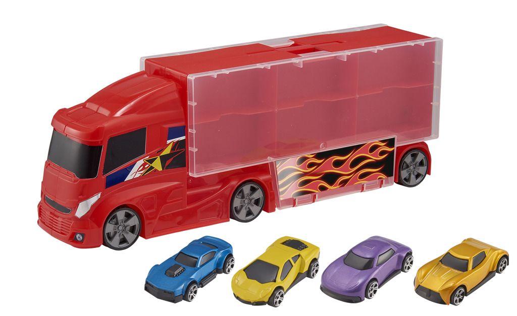 Teamsterz kufřík v designu náklaďáku se 4 autíčky Halsall