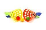 Catch ball hra 2ks + 3 míčky plast 19cm v síťce Teddies
