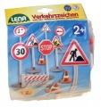 Dopravní značky plast 16cm 17ks v sáčku 2+ Lena