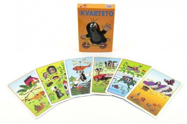 Kvarteto Krtek 2 společenská hra - karty v papírové krabičce 6x9cm Akim