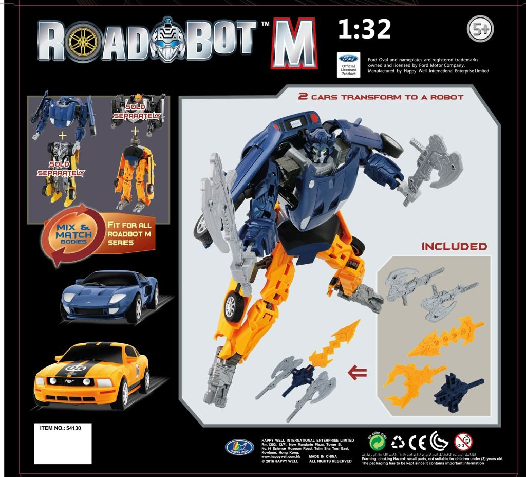 Road Bot Ford GT+Mustang C FR500 1:32 HM STUDIO
