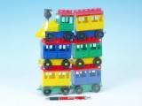 Stavebnice LORI 8 vlak + 5 vagónků plast v sáčku 20x26x5cm