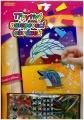 Třpytivý/zářivý nalepovací obrázek 20,3x25,4cm asst na kartě SMT Creatoys