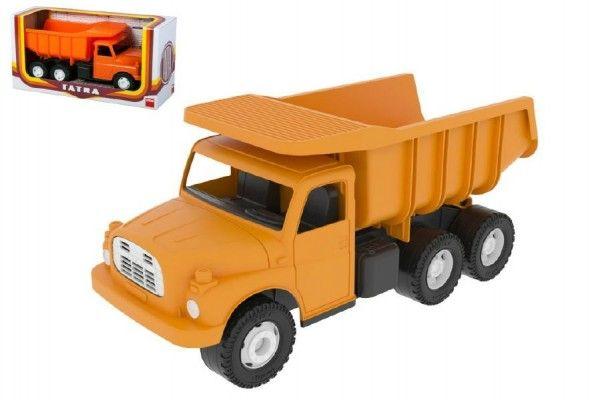 Auto Tatra 148 plast 30cm oranžová sklápěč v krabici Dino