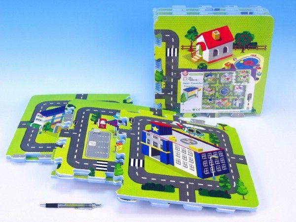 Pěnové puzzle Město 32x32cm 9ks v sáčku 10m+ Wiky