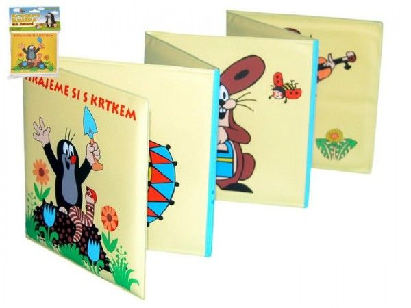 Rozkládací knížka Krtek plast 12x12cm v sáčku Wiky