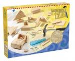 Šikovný truhlář dřevo + doplňky v krabici 33x23x6cm Lowlands