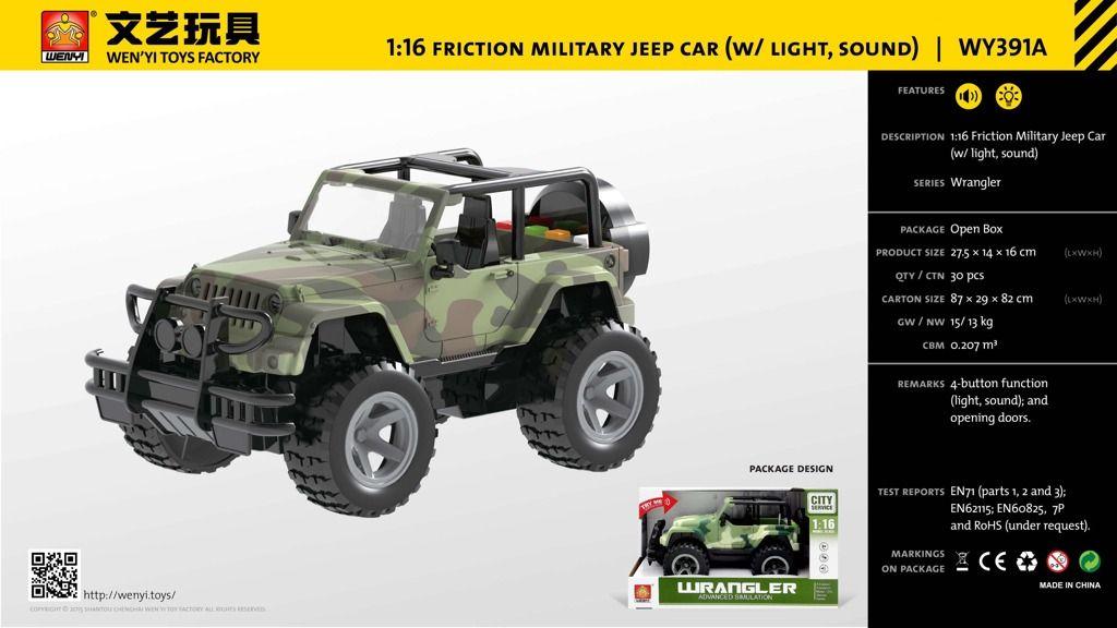 Vojenský jeep 1:16