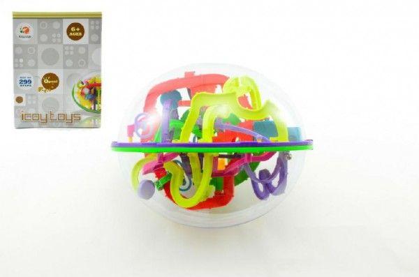 Hlavolam Bludiště ovál 3D plast 20cm Perplexus v krabici Teddies