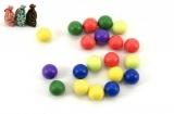 Kuličky cvrnkací nerozbitné 20ks asst 3 barvy v látkovém pytlíčku Teddies