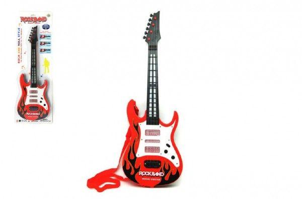 Kytara plast 54cm na baterie 3xAA na kartě Teddies