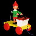 Pinocchio s xylofonem tahací dřevo 20cm v krabičce Miva