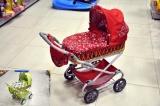 Kočárek Monika hluboký proutěný 90x40x70cm pro panenky asst 4 barvy