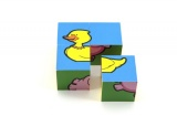 Kostky kubus Moje první zvířátka dřevo 4ks v krabici Teddies