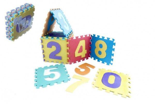 Pěnové puzzle čísla 10 ks Teddies