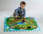 Pěnové puzzle Město Moje první zvířátka 30x30x1,2cm 9ks MPZ Teddies