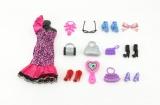 Šaty/Oblečky boty doplňky na panenky 25x27cm asst na kartě Teddies