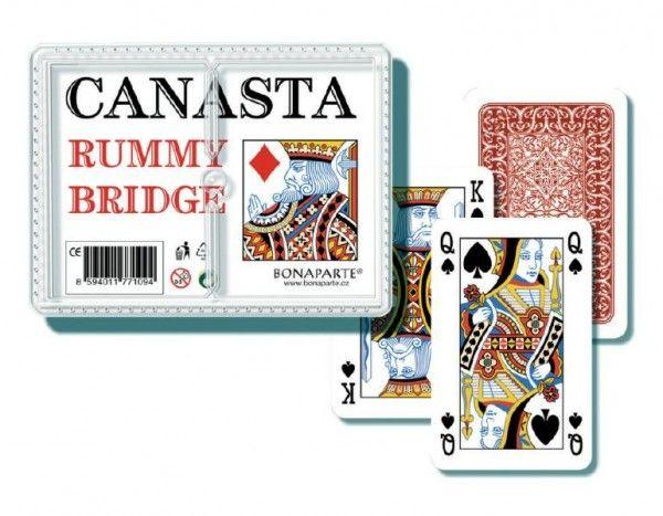 Canasta společenská hra - karty 108ks v plastové krabičce Bonaparte