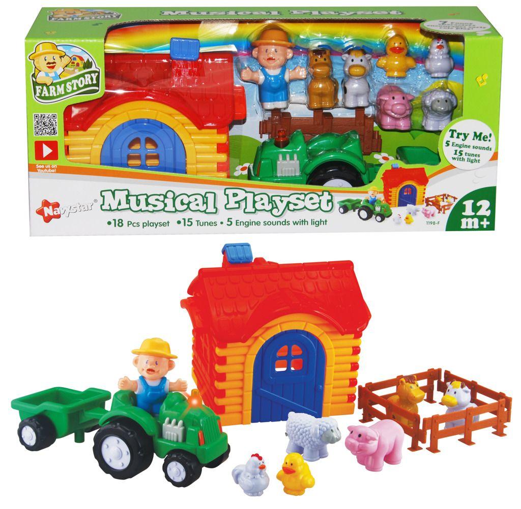 Farmářský zvukový set pro nejmenší děti zvuková hračka Navystar