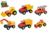 Auto mini Compact stavební plast 12cm asst 3 druhů 10ks v boxu