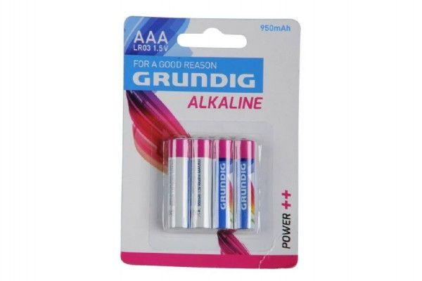 Baterie Grundig LR03/AAA 1,5 V alkaline 4ks na kartě Teddies