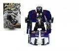 Auto robot/transformer policie s doplňky 16cm asst 2 barvy na kartě