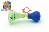 Klakson trumpeta na kolo plast 14cm asst 3 barvy 12ks v boxu Teddies