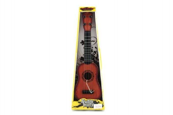 Kytara s trsátkem plast 40cm asst 3 barvy v krabici Teddies