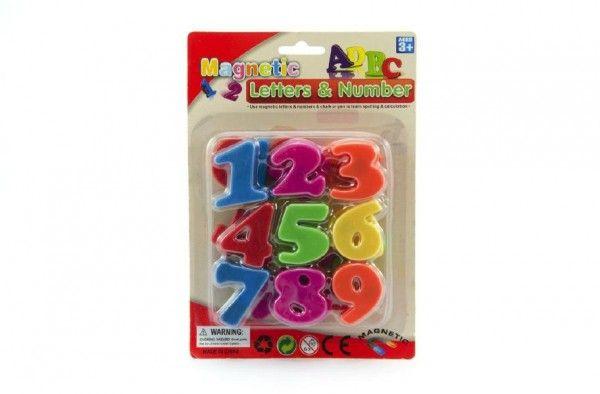 Magnetické číslice plast na kartě 14,5x22cm Teddies