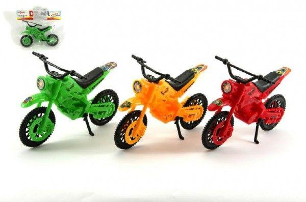 Motorka plast 20cm asst 3 barvy v sáčku Teddies