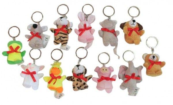 Přívěšek na klíče zvířátko plyš asst 12 druhů Teddies