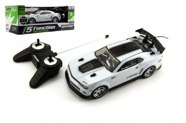 Auto RC 25cm plast zrychlující 1:18 na baterie 27MHz v krabici 35x13x15cm Teddies