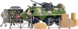 Battalion vojenský obrněný průzkumný prapor set s doplňky Světlo Zvuk