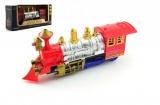 Lokomotiva/Vlak plast 2cm narážecí na baterie se světlem se zvukem v krabici