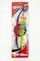 Luk+4 šípy s přísavkami plast 57cm na kartě dětské luky Karneval Teddies