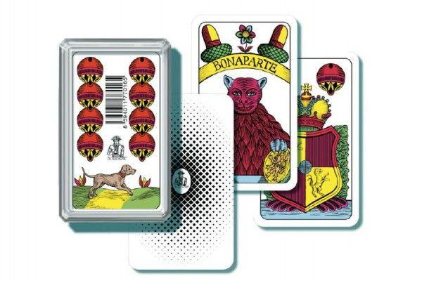 Mariáš jednohlavý společenská hra karty v plastové krabičce Bonaparte