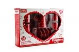 Nádobí červené plechové 14ks v krabici sada nádobí kuchyňky pro malé kuchařky Teddies
